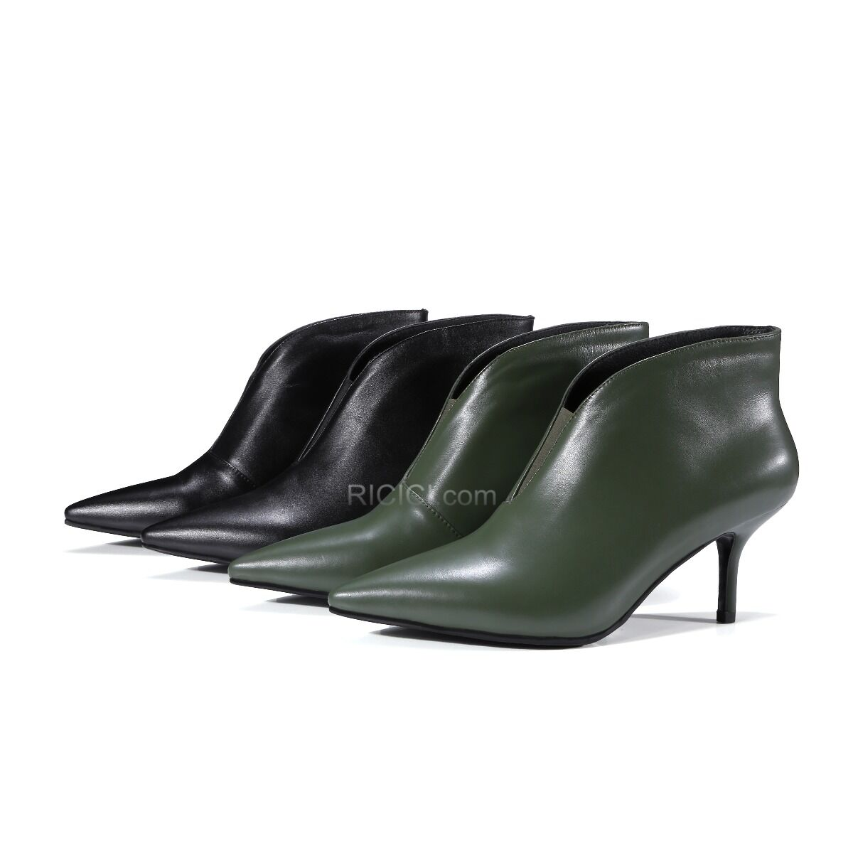 Patent Leather Pointed Toe Boots For