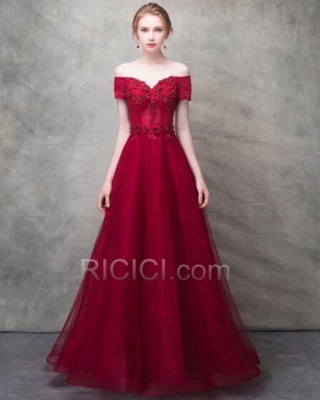 Formal Dresses Prom Dress Off The Shoulder Princess Elegant 2018 Long Lace Appliques