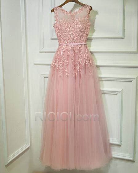 Dress For Wedding Guest Fit And Flare Elegant Bohemian Formal Dresses Blush Pink Bridesmaid Dresses Lace