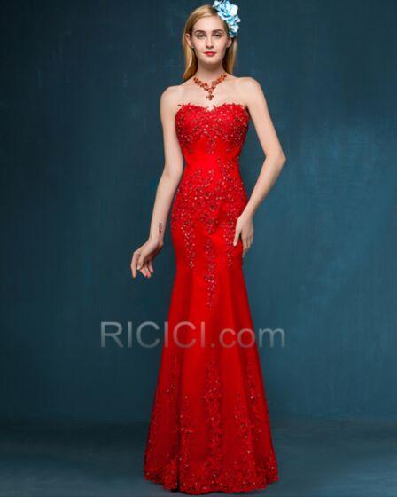 Strapless Beautiful Sleeveless Sheath Bridesmaid Dress Lace 2018 Chiffon Appliques
