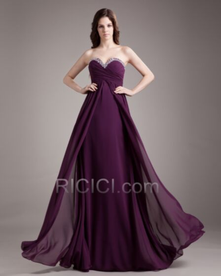 Backless Empire Simple Spring Dress For Wedding Pleated Strapless Long