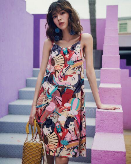 Slip Dress Open Back Casual Dress Straight Spaghetti Strap Dress Cute Summer Sundress Juniors Colorful