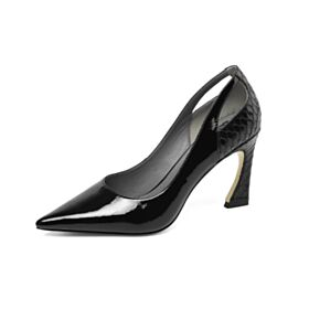 Klassiek Pumps Leren Stiletto High Heels