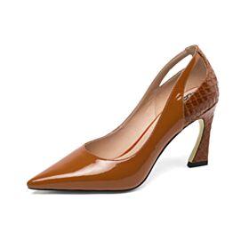 8 cm Tacon Alto Clasico Stiletto Zapatos Tacones
