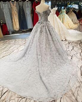 Juveniles Purpurina Estilo Princesa Hombros Caidos Con Cola Escotados Sexys Encaje Vestidos De Prom Fiesta