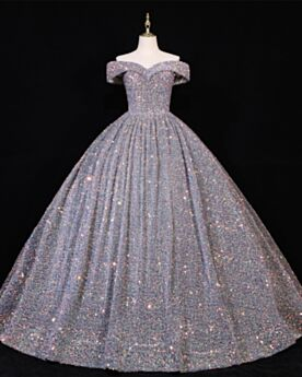 Quinceanera Dress Prom Dresses Open Back Long Sparkly Sweet 16 Dresses Ball Gowns Low Cut Gorgeous Sequin