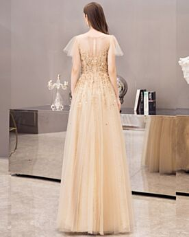 Sequin Empire Princesse Robe De Bal Chic Robe De Soirée Or Brillante Robe Nouvel An