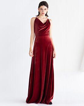Color Burdeos Largos Corte Imperio Escote V Vestidos De Invitada Boda Terciopelo Vintage Vestidos De Noche