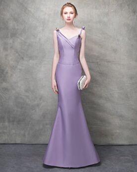 Lavender Long Evening Dress Beautiful Sleeveless Beading Homecoming Dresses Sheath Wedding Guest Dresses Simple