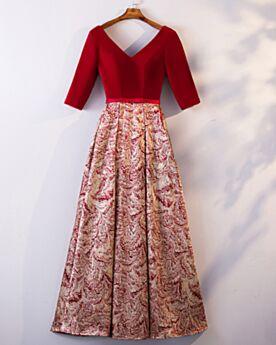 Elegante Kleider Für Festliche Lange Empire Rot Abendkleid