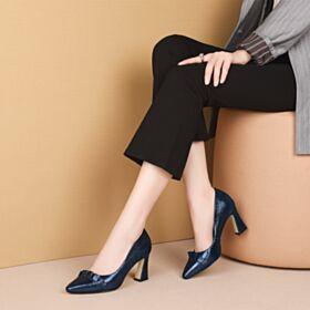Modernos De Punta Fina Zapatos 8 cm Tacon Alto Volantes