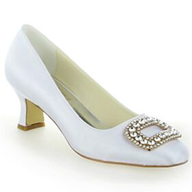 Platform Pumps Dress Shoes Stiletto Ivory High Heel Round Toe Fringe 2020 Ankle Strap Rhinestones Beautiful Bridal Shoes