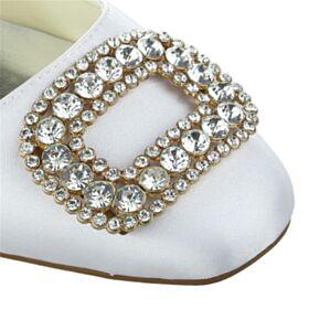 Elegantes Tacon Ancho Zapatos Novia Zapatos Mujer Blancos Tacon De 5 cm