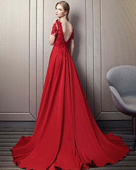 Summer Lace Transparent Open Back 2018 Formal Evening Dresses Prom Dress Beautiful A Line