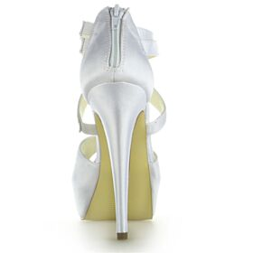 Tacon Alto Elegantes Peep Toe Plataforma Stiletto Sandalias Mujer