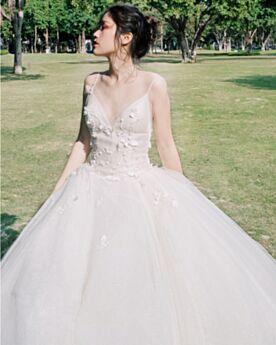 De Tirantes Drapeado Bohemios Escotados Con Cola Vestidos De Novia Elegantes Blancos