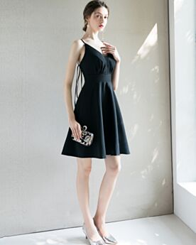 Sexy Fit And Flare Black Juniors Cocktail Party Dress Short