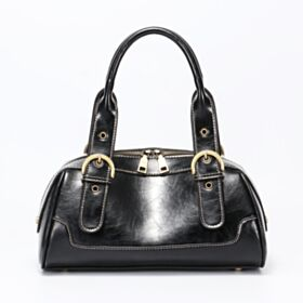 Bag Going Out Classic Satchel Leather Black Casual Shoulder Bag