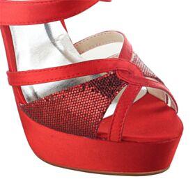 Chaussure De Mariée Talons Aiguilles Peep Toes Paillette Chaussure Demoiselle D honneur Plateforme Élégant Talons Hauts Sandales