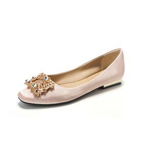 スクエア トゥ サテン パンプス フラット エレガント 結婚 式 靴 1920210855