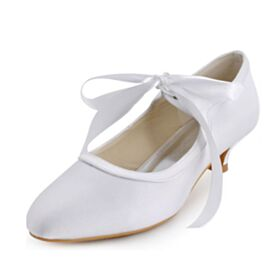 Stiletto Merceditas Blancos Zapatos Tacones Tacones Bajos En Punta Fina