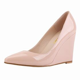 Pumps Nude Pointed Toe Wedges Simple High Heel 10 cm / 4 inch