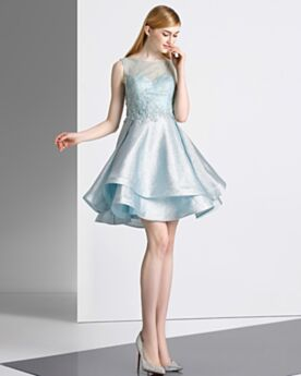 Sleeveless Homecoming Cocktail Special Occasion Dress Chic Sparkly Sexy Short Fit And Flare Ruffle