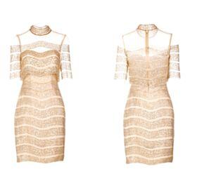 Vestiti Diciottesimo Trasparenti Corti Oro Collo Alto Abiti Cerimonia Luccicante Paillettes
