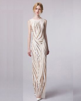 Sheath Long Champagne Sleeveless Sparkly Elegant Tulle Sequin Formal Evening Christmas Special Occasion Gown