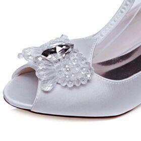 Zapatos De Novia Stilettos Zapatos Tacones Cristal 5 cm Tacones Peep Toe