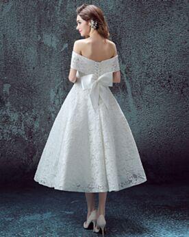 Abiti Da Sposa Da Spiaggia Svasato Semplici Eleganti Matrimonio Civile Bianco Pizzo