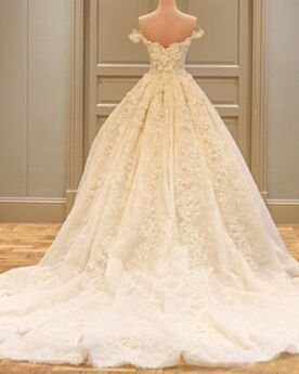 Lace Long With Train Wedding Dresses Fall A line Gorgeous Open Back