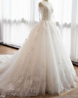 Schiena Scoperta Pizzo Avorio Eleganti Vestiti Da Sposa