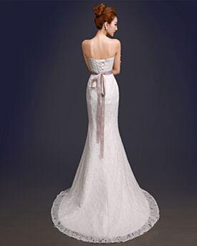 Matrimonio Civile Schiena Scoperta Senza Maniche Stile Impero Vestiti Da Sposa Senza Spalline Avorio Pizzo Sirena