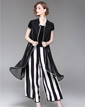 De Rayas Pantalon Ancho Conjuntos De Ropa Outfit Lino