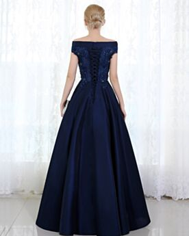 Appliques Bridesmaid Evening Dress For Party Empire Long Charming Off The Shoulder
