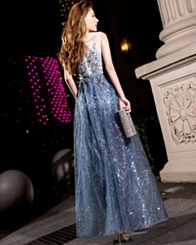 Juniors Long Glitter Appliques Prom Dress Homecoming Dresses Dark Blue Lace Sparkly Formal Evening Dress Fit And Flare