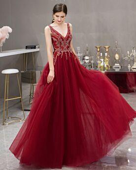 Vestidos De Noche Largos Vintage Escotados Espalda Descubierta Vestidos Para Fiesta De Tul Vestidos Para Prom