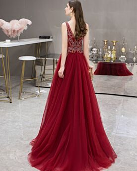 Long Princess Low Cut 2020 Sleeveless Formal Dresses Vintage Prom Dress Open Back