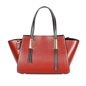 Crossbody Burgundy Shoulder Bag Fashion Leather Handbag Satchel Color Block