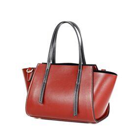 Umhängetasche Burgunderrot Satchel Bag Blockfarben Crossbody Handtasche Damen Casual Full Grain