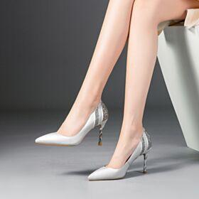 Talon Aiguille Escarpins Femmes Chaussure De Soirée Bout Pointu Sequin Talon Haut