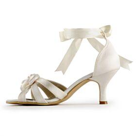 Brautschuhe Mit Absatz 6 cm Sandalen Stilettos Brautjungfer Schuhe