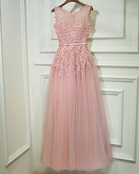 Tüll Applikationen Elegante Abendkleider Boho Spitzen Kleider Hochzeitsgäste Brautjungfernkleid Lyserosa