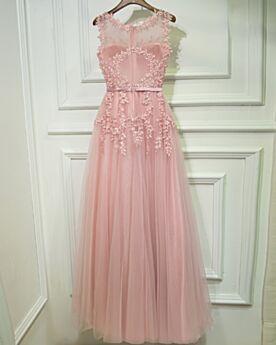 Vestiti Per Matrimonio Con Perline Estivi Eleganti Svasato Rosa Cipria Vestiti Da Damigella Pizzo Abiti Da Cerimonia