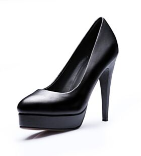 Leather 3 inch High Heel Classic Pumps Red Soles Pointed Toe Black Stiletto Heels