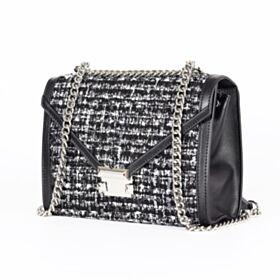 Braided Shoulder Bag Crossbody Modern Black Going Out Purse