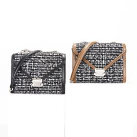 Con Catena Argento Nero Moda Borse Tracolla Intrecciati Crossbody Bags Pelle