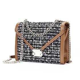 Leder Geflochtene Handtasche Überschlagtasche Umhängetasche Ausgehen Mittel Mode Crossbody