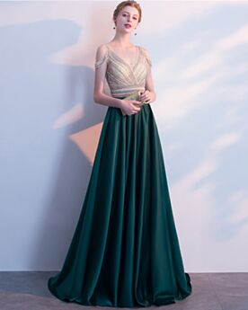 Sleeveless Open Back Formal Evening Dress Long Satin Bridesmaid Dress For Wedding Elegant